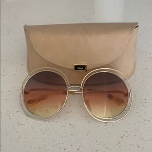 CHLOE Faded round shades